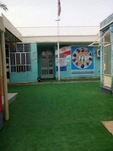 گزارشی از چمن مصنوعی نمودن اولین مدرسه در شهرستان کارون