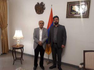 دیدار مدیرعامل شرکت سرمایه گذاری و توسعه اروند با سفیر ارمنستان در ایران