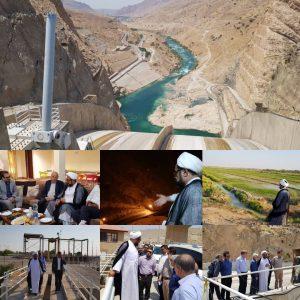 تلاش ناصری نژاد برای رساندن آب به شادگان به روایت تصویر